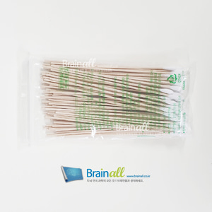 긴 면봉 6인치 1bag -100pcs, EEG-Cap 임피던스 감소용 Cotton Tipped Applicators BA520